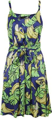 Love Moschino Banana & Leaf Print Dress