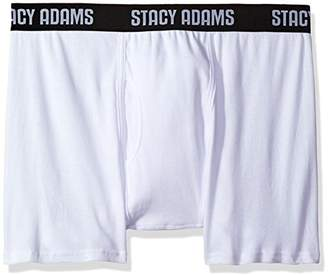 Stacy Adams Men's Big and Tall 4pack Cotton Boxer Brief Sizes