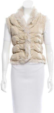 JOSEPHJoseph Ruched Shearling Vest