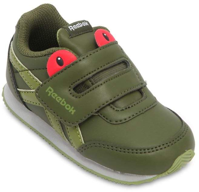 Reebok Classics Frog Faux Leather Strap Sneakers