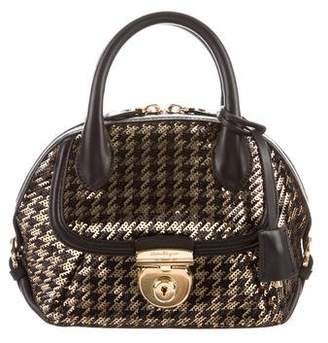 Salvatore Ferragamo Mini Fiamma Sequin Satchel w/ Tags