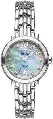 Seiko Tressia Womens Silver Tone Bracelet Watch-Sup353 $375 thestylecure.com