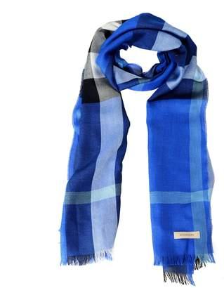 Burberry Unisex Silk Cashmere Plaid Multi-Color Lightweight Scarf