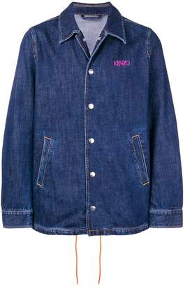 Kenzo embroidered logo denim jacket