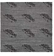 Simonnot Godard Men's Racecar-Print Cashmere-Blend Jacquard Pocket Square - Silver