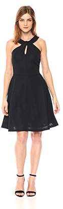Armani Exchange A|X Women's Cross Collar a-Line Party Dress