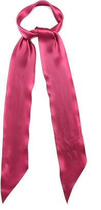 ROCKINS Logo-embroidered super-skinny silk scarf