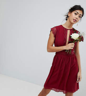 TFNC Petite WEDDING Lace Detail Midi Dress