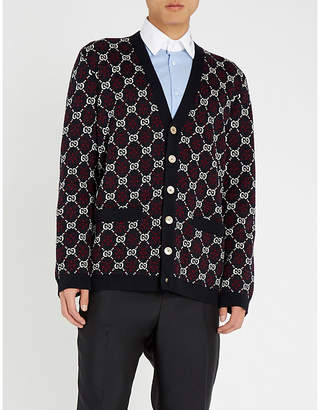 Gucci GG-motif cotton and wool-blend cardigan