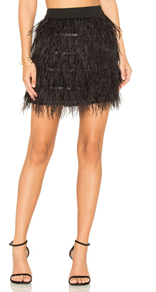 Line & Dot Keira Ostrich Skirt $99 thestylecure.com
