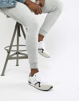 Tommy Hilfiger suede mix sneaker in white