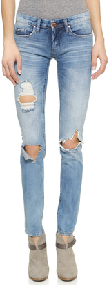 Blank Denim Distressed Skinny Jeans $88 thestylecure.com