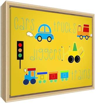 Camilla And Marc Feel Good Art Eco-Printed and Framed Nursery Canvas with solid Natural Wooden Frame (44 x 34 x 3 cm Medium