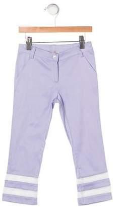 Blumarine Girls' Sheer Panel Pants