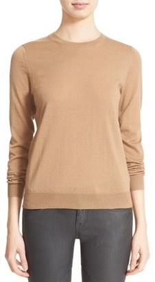 Women's Burberry Brit Check Patch Merino Sweater $350 thestylecure.com