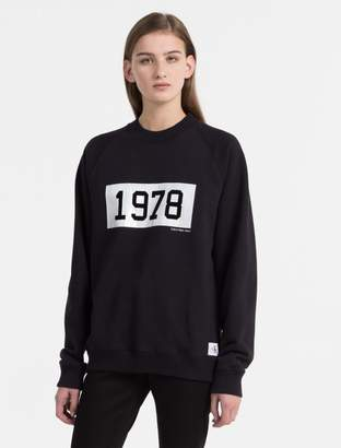 Calvin Klein 1978 logo sweatshirt