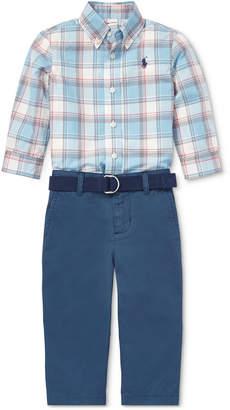 Polo Ralph Lauren Baby Boys Plaid Shirt & Chino Pants Set