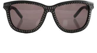 Alexander Wang Linda Farrow X  Black & Nickel Zipper Frame Sunglasses