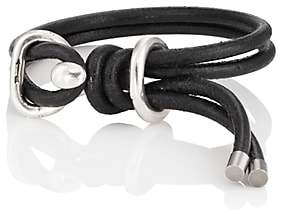 Giles and Brother Men's Leather Wrap Bracelet-Black