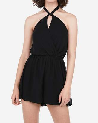 Express Cross-Neck Open Back Romper