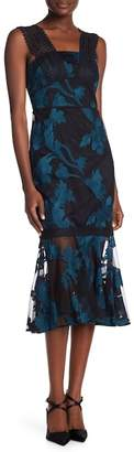 Tahari Embroidered Mermaid Dress