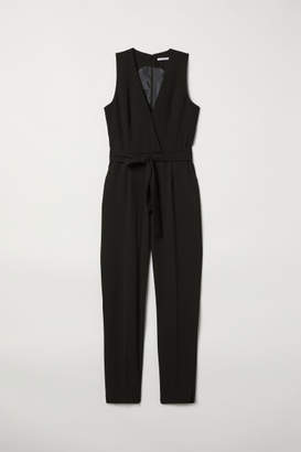 H&M Jumpsuit with Tie Belt - Black