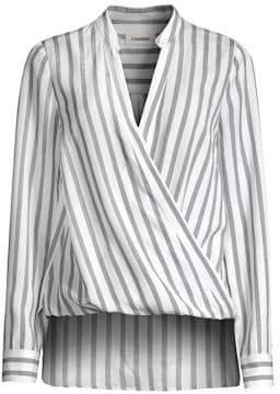 L'Agence Kyla Striped Wrap Top