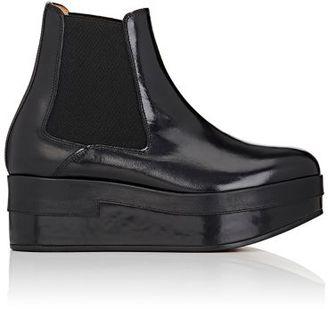 Maison Margiela Women's Platform Chelsea Boots-BLACK $1,160 thestylecure.com