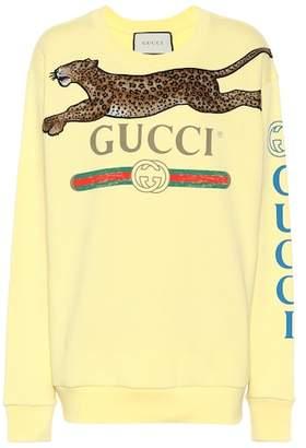 Gucci Appliquéd cotton sweatshirt