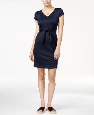 Armani Exchange Tie-Front Dress $100 thestylecure.com