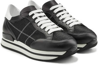 Hogan Platform Sneakers with Leather