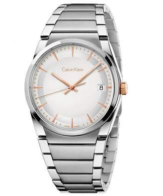 Calvin Klein Men's 38mm Steel Bracelet Quartz -Tone Dial Analog Watch K6K31B46