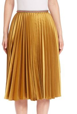 Leur Logette Accordion Pleated Skirt $770 thestylecure.com