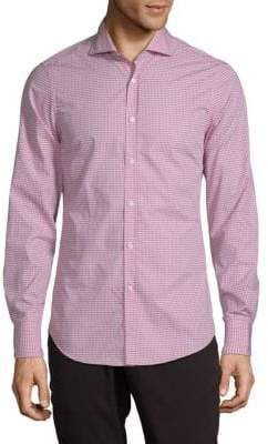 Brunello Cucinelli Gingham Cotton Button-Down Shirt