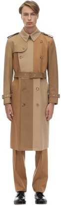 Burberry Patchwork Cotton Canvas Trench Coat