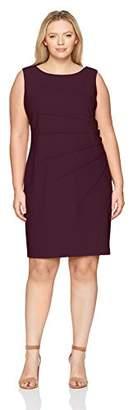 Calvin Klein Women's Plus Size Sleeveless Starburst Sheath Dress