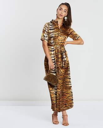 Missguided Tiger Print Maxi Dress