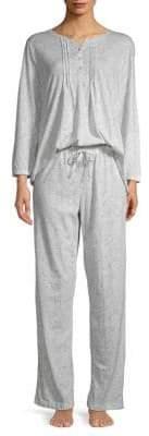 Carole Hochman Paisley-Print Pajama Set