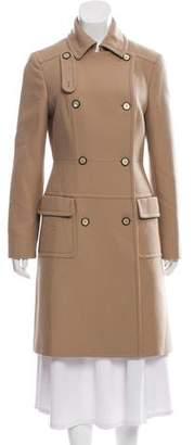 Alberta Ferretti Virgin Wool Knee-Length Coat