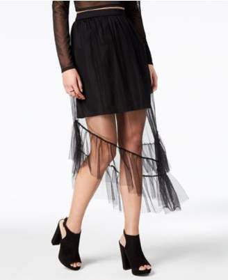 Glam by Glamorous Asymmetrical Illusion Skirt, Created for Macy's