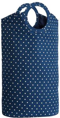 Pottery Barn Teen Easy Carry Laundry Bag, Navy Dottie
