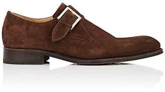 Harris Men's Suede Monk-Strap Shoes