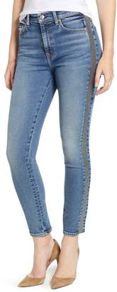 7 For All Mankind(R) Luxe Vintage Side Stripe High Waist Ankle Skinny Jeans