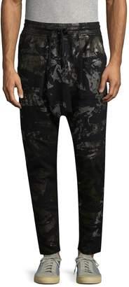 Robins Jean Men's Pocket Cotton Printed Jogger Pants