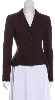 Valentino Wool Button-Up Blazer