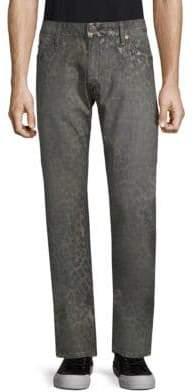 Multi Studs Cotton Jeans
