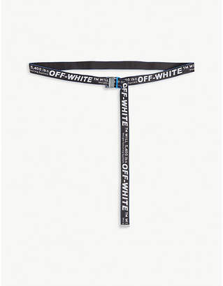 Off-White Jacquard industrial tape belt