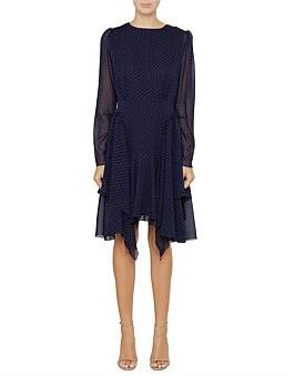 See by Chloe Long Sleeve Mni Floaty Frill Dress