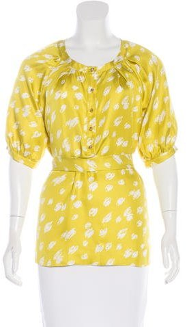 Kate Spade New York Belted Silk Blouse