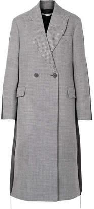 Stella McCartney Paneled Wool-tweed And Twill Coat